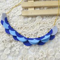 How to Make a Blue Crescent Felt Bead Necklace