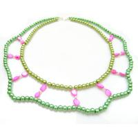 Simple Tutorial on Making Double Strand Beaded Necklace with Pearl and Shell