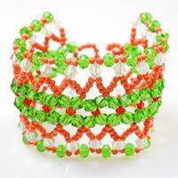 Exotic Patterns on Making Color Block Beaded Cuff Bracelet