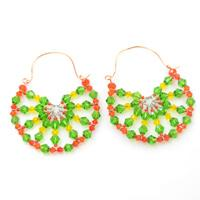Summer Jewelry on How to Make Beaded Lemon Hoop Earrings with Wire