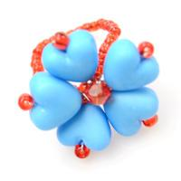 How to Make a Beaded Blue Heart Ring for Little Girls