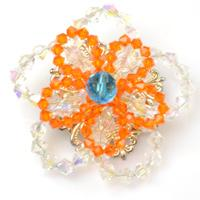 How to Make a Double Crystal Flower Brooch with Wire
