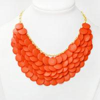 How to Make an Orange Bib Statement Necklace with Beads