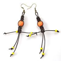 How to Make Shamballa Doll Earrings Out of Cords and Beads