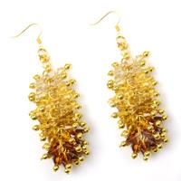 Autumn Jewelry Pattern-How to Make Ombre Crystal Cluster Earrings