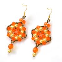 Fantastic Handmade Beaded Dangle Earrings Designs for Autumn