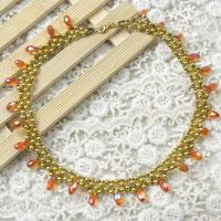How to Make a Sunburst Gold Beaded Necklace for Autumn