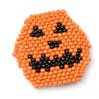 How to Make Your Own Beaded Pumpkin Coaster for Halloween