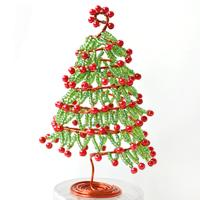 How to Make Wire Wrapped Christmas Tree Ornament for Desk Decoration