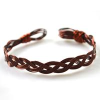 Vintage Bangle Designs on How to Make a Woven Copper Bracelet with Wire