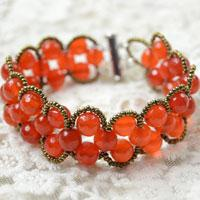 How to Make an Easy Beaded Double Wave Bracelet with Agate Beads