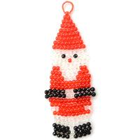 Christmas Craft Tutorial-How to Make a Beaded Santa Claus Ornament