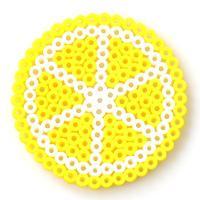 Easy Perler Bead Designs-How to Make Perler Bead Lemon Coasters