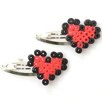 How to Make Perler Bead Heart Hair Clips Patterns for Little Girls