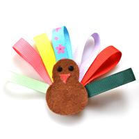 Animal Jewelry Design-How to Make a Turkey Hair Bow with Ribbon
