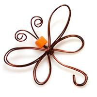 Animal Jewelry Crafts on How to Make an Adorable Wire Wrapped Dragonfly