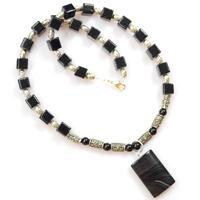 How to Make Black Beads Necklace Designs with Pendant for Men