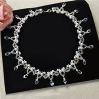 How to Make a Beaded Bridal Necklace with Pearl and Crystal