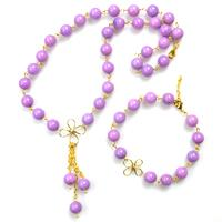 How to Make Chic Handmade Jewelry Sets with Purple Jade Beads
