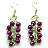 DIY Fruit Crafts - How to Make Beautiful Beaded Grape Earrings at Home
