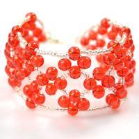 Right Angel Weave Bracelet Tutorial-Make an Embellished Red Bead Weaving Bracelet