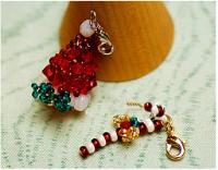 Christmas jewelry ideas-bead a delicate Christmas hat