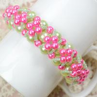 Free Pearl Bracelet Pattern-Make a Cluster Pearl Bracelet for Bridesmaids