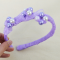 How to Make a Handmade Purple Ribbon Hair Accessory with Pearl Beads