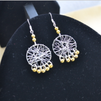 How to Make a Pair of Wire Wrapped Dream Catcher Earrings