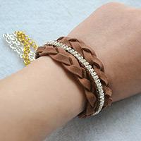 How to Make Cool Braided Chain Bracelet Tutorial