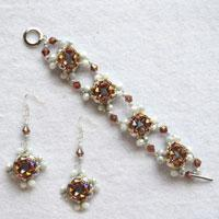 How to Make Bead Wedding Pearl Jewelry Sets With Seed Beads by Your Own Hands