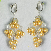 DIY Pearl Crystal Earrings - Instructions on Making Beaded Earrings for Beginners
