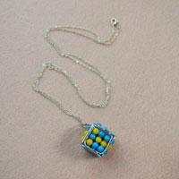 Cube Craft Idea-How to Make a Fun Cube Pendant Necklace for Kids