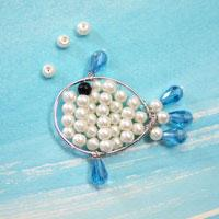 DIY Kids' Crafts-Instructions on Making Marine Style Beaded Fish for Kids