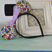 How to Make Easy Cute Handmade Beaded Mickey Headbands for Girls