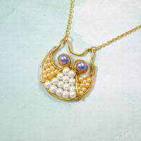 How to Make an Attractive Beaded Necklace with a Gold Owl Pendant