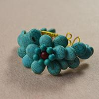 How to Make a Turquoise Beaded Daisy Flower Wire Cuff Bracelet