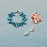 How to Make a Wire Ocean Style Bracelet with Beads