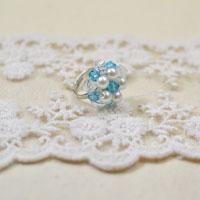 Tutorial on Making a Marine Style Star-shaped Jewelry Ring with Pearls and Crystals