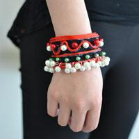 Handmade Ethnic Jewelry Tutorial on Making a Red Pearl Bead Bracelet
