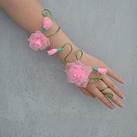 How to Make Wire Wrapped Flower Wristband Bracelets at Home