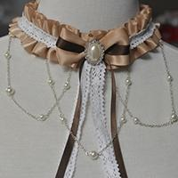 Handmade Craft Tutorial on How to Make an Elegant Lace Lolita Necklace