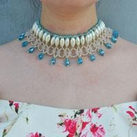 How to Make a Unique Beaded Necklace with Pearls and Crystals for Brides