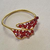 How to Make a Wire Wrapped Red Glass Bead Bracelet-An Easy DIY Project for Beginners