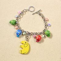 How to Make a Charm Chain Bracelet for Kids with Colorful Wooden Beads