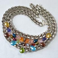 Easy Tutorial on How to Make a Chain Statement Necklace with Multi Colored Beads