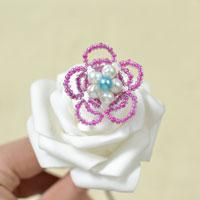 Instructions on How to Make a Pearl and Seed Bead Flower Ring