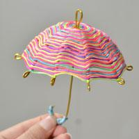 Easy Home Decoration Craft-How to Make a Rainbow Nylon Cord Umbrella