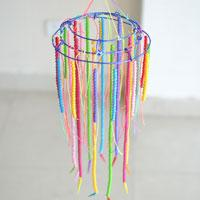 DIY Beaded Chandelier - How to Make Hanging Decoration with Colorful Acrylic Beads