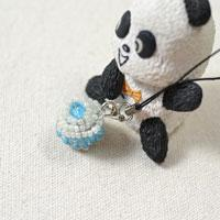 How to Make a Blue Cupcake Bead Keychain with Seed Beads and Glass Beads
